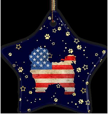 Pekingese USA Ceramic Star Ornament