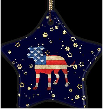 Pit Mix USA Ceramic Star Ornament