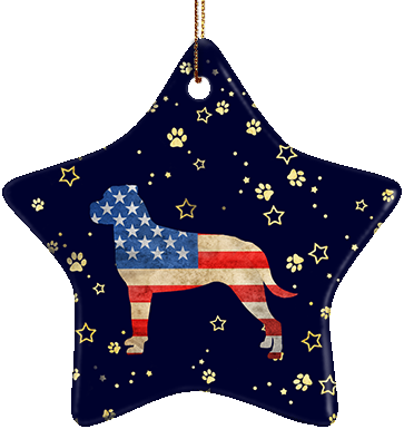 Rottweiler USA Ceramic Star Ornament