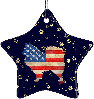 Samoyed USA Ceramic Star Ornament