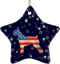 Schnauzer USA Ceramic Star Ornament