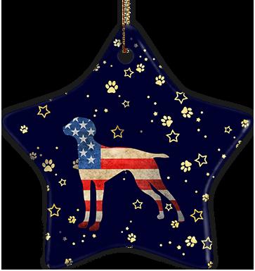 Vizsla USA Ceramic Star Ornament