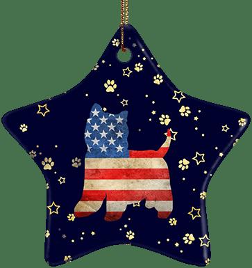 Westie USA Ceramic Star Ornament