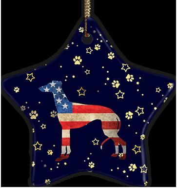 Whippet USA Ceramic Star Ornament