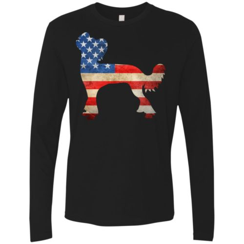 Vintage Chinese Crested USA Premium Long Sleeve Tee