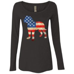 Vintage Bullmastiff USA Ladies' Scoop Neck Long Sleeve Shirt