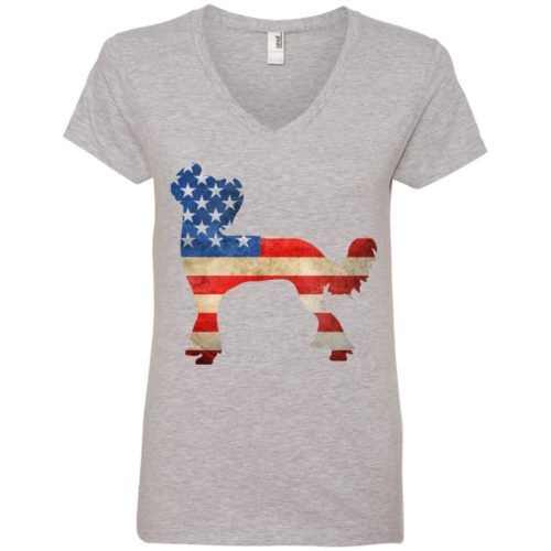 Vintage Chinese Crested USA V-Neck Tee