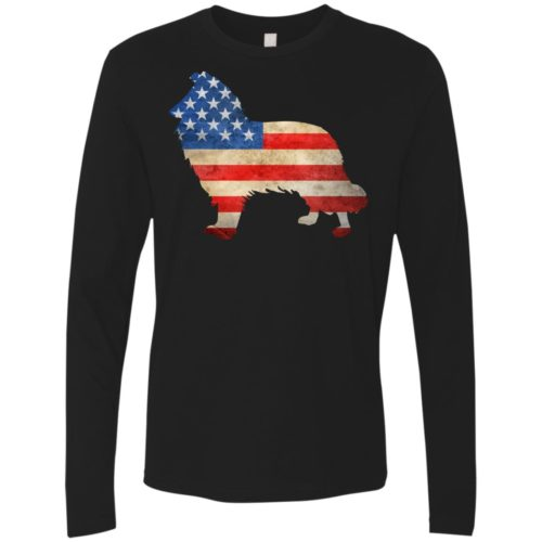 Vintage Collie USA Premium Long Sleeve Tee