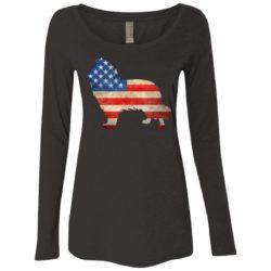 Vintage Collie USA Ladies' Scoop Neck Long Sleeve Shirt