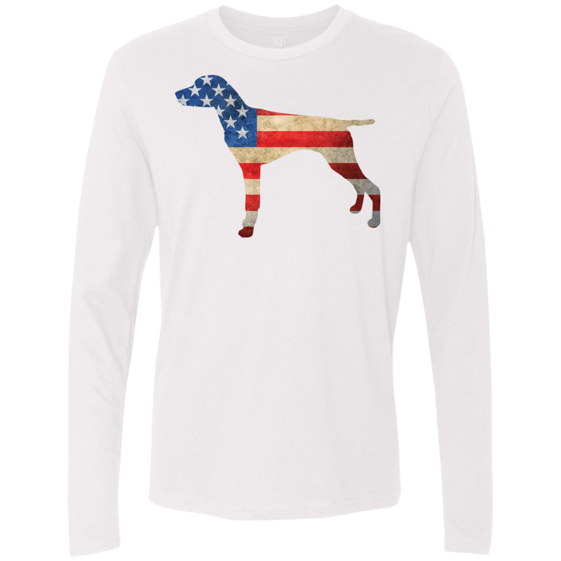 Vintage German Shorthaired Pointer USA Premium Long Sleeve Tee ...