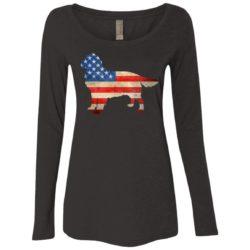 Vintage Golden Retriever USA Ladies' Scoop Neck Long Sleeve Shirt