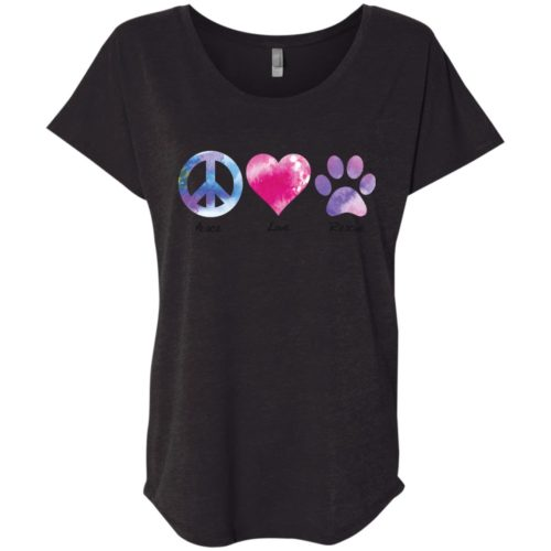 Peace Love Rescue Slouchy Tee