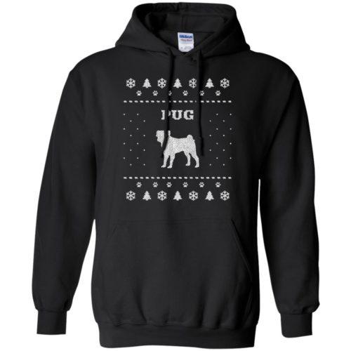 Pug Christmas Pullover Hoodie