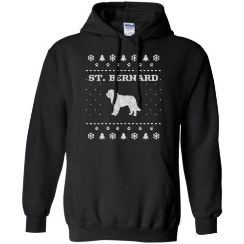 St. Bernard Christmas Pullover Hoodie
