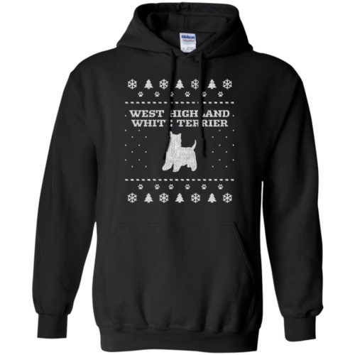 West Highland White Terrier Christmas Pullover Hoodie