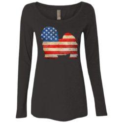 Vintage Maltese USA Ladies' Scoop Neck Long Sleeve Shirt