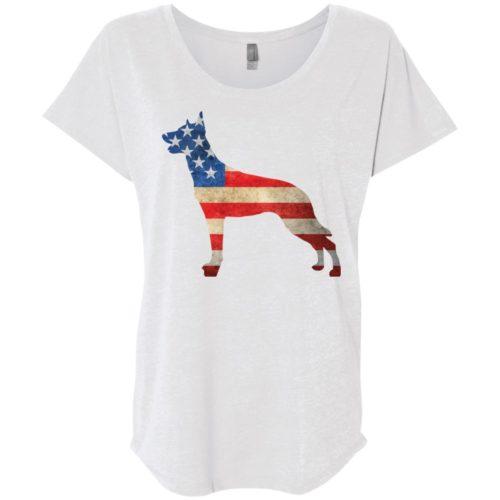 Vintage Malinois USA Ladies' Slouchy T-Shirt