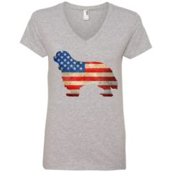 Vintage Cavalier King Charles USA Ladies' Premium V-Neck