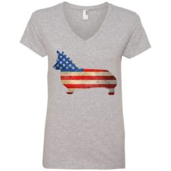 Vintage Corgi USA Ladies' Premium V-Neck