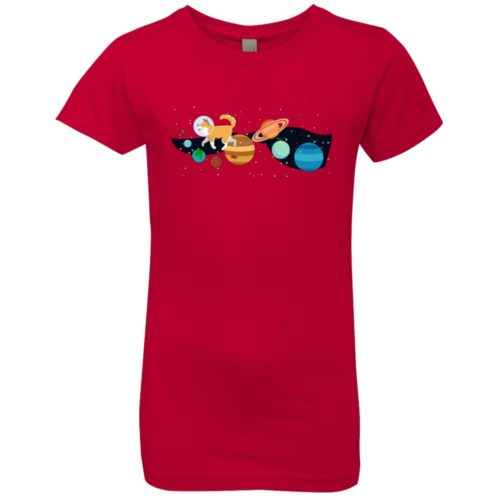 Space Traveler Dog Girls' Premium Tee