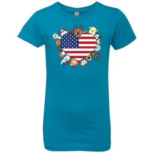 Heart Dog USA Girls' Premium T-Shirt