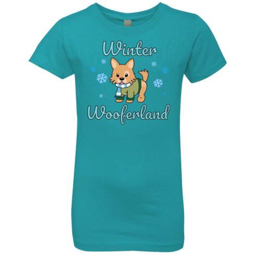 Winter Wooferland Girls' Premium T-Shirt