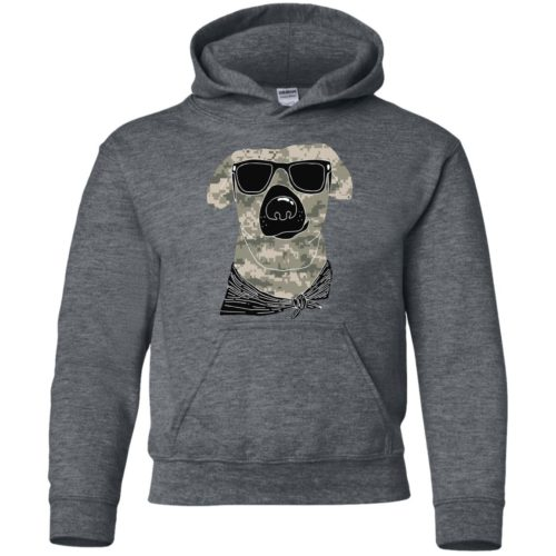 Camo Dog Youth Pullover Hoodie