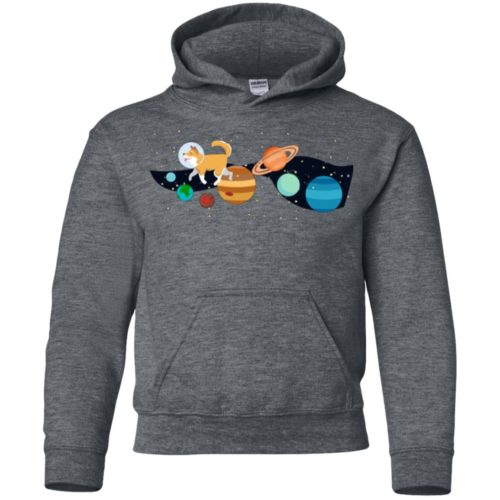 Space Traveler Dog Youth Pullover Hoodie