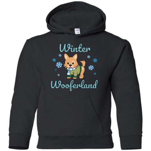 Winter Wooferland Youth Pullover Hoodie