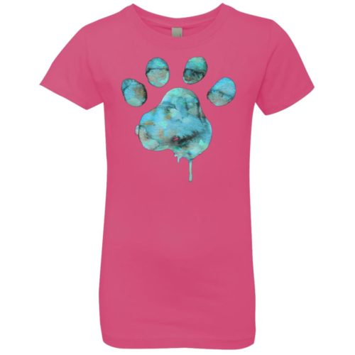 Watercolor Paw Girls' Premium Tee