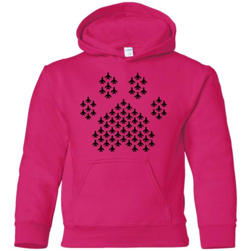 Plane Paw Youth Pullover Hoodie