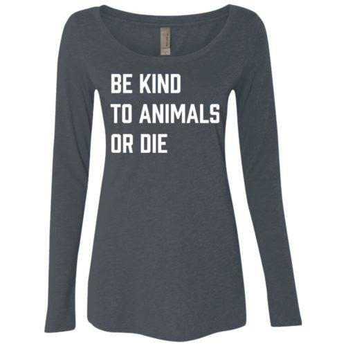 Be Kind or Die Fitted Scoop Neck Long Sleeve