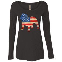 Vintage Bulldog USA Ladies' Scoop Neck Long Sleeve Shirt