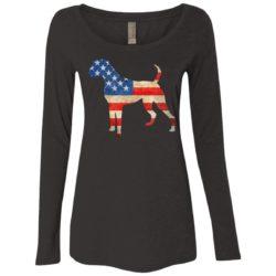 Vintage Boxer USA Ladies' Scoop Neck Long Sleeve Shirt