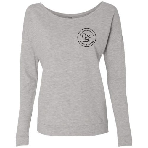 Sponsored By Wine & Dogs Ladies' Scoop Neck Sweatshirt