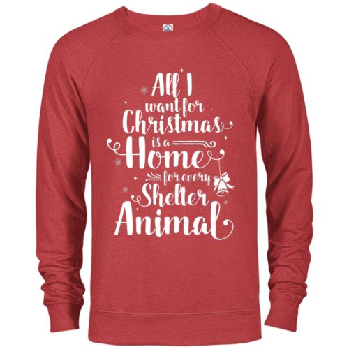 A Home For Every Shelter Animal Premium Crew Neck Sweatshirt
