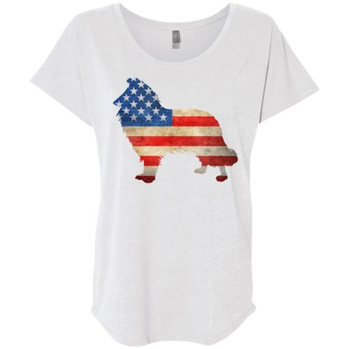 Vintage Collie USA Ladies' Slouchy T-Shirt
