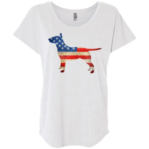 Vintage Bull Terrier USA Ladies' Slouchy T-Shirt