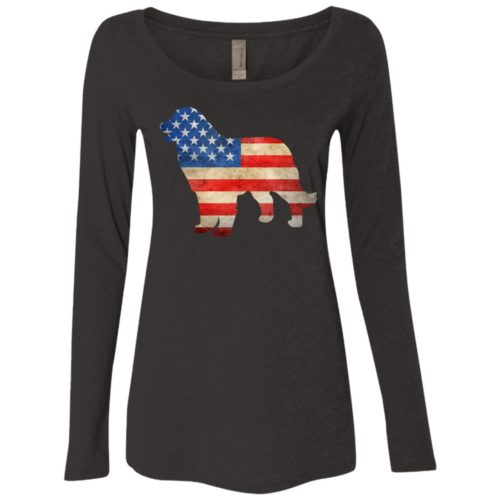 Bernese Mountain Dog Fitted Scoop Neck Long Sleeve