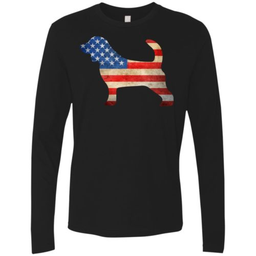 Vintage Beagle USA Premium Long Sleeve Tee