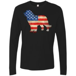 Vintage Bernese Mountain Dog USA Premium Long Sleeve Shirt
