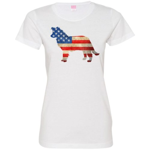 Vintage Border Collie USA Fitted Tee