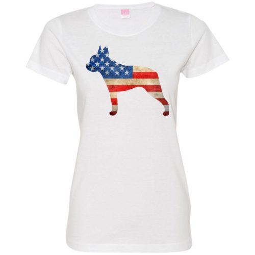 Vintage Boston Terrier USA Ladies' Premium T-Shirt