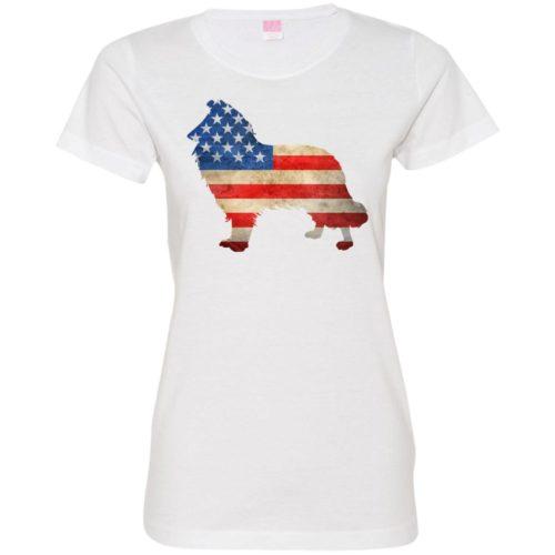 Vintage Collie USA Ladies' Premium T-Shirt