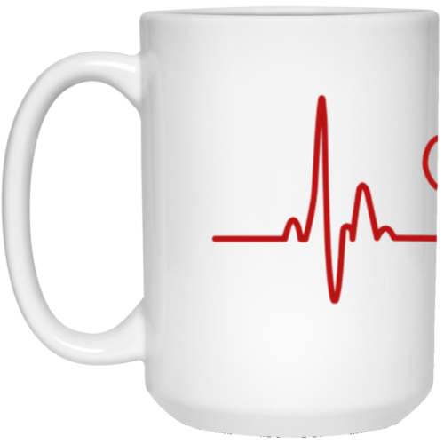 Heartbeat Paw 15 oz. Mug