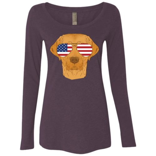 Cool Dog USA Fitted Scoop Neck Long Sleeve