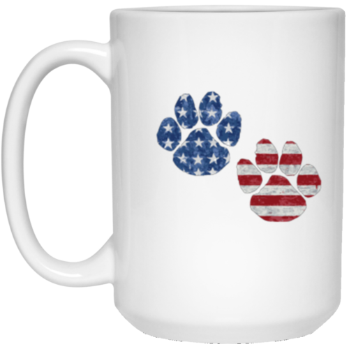 Flag Paws USA 15 oz. Mug
