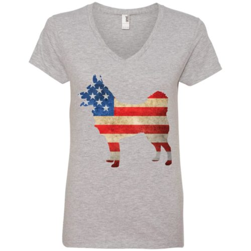 Vintage Schipperke USA Ladies' Premium V-Neck