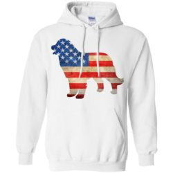 Vintage Bernese Mountain Dog USA Pullover Hoodie