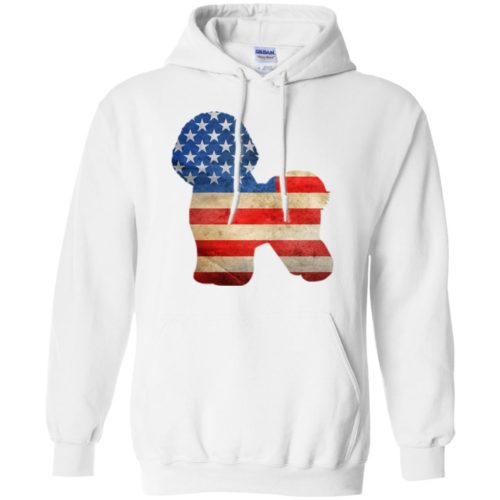 Vintage Bichon Frise USA Pullover Hoodie